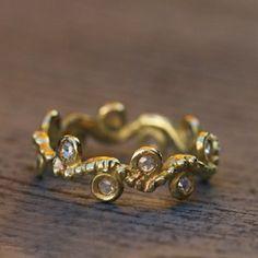Alliance Ondine or et diamants Héléne Courtaigne Delalande pour l'atelier des bijoux créateurs.
