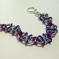 Chainmaille Jewelry Purple and Fuchsia by katestriepenjewelry, $24.00