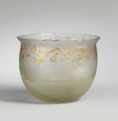 Glass bowl. Period: Mid Imperial. Date: 1st–2nd century A.D. Culture: Roman. Medium: Glass, Gold; blown and cut.