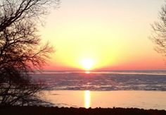 Sunrise splendor over frozen Lake Erie at Put-in-Bay, Ohio via @Miller Ferries to Put-in-Bay & Middle Bass.