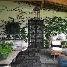 Home #lafaisanderie #lovemyfarm porche today #nofilter