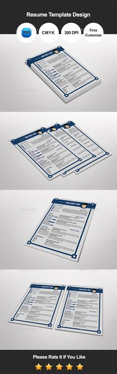 Stylish Resume  Cover Letter Template Design Resume cover letter