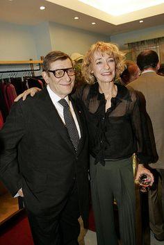 Loulou de la Falaise: 2004: With Yves Saint Laurent during Paris couture week