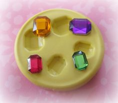 Gem Mold Faceted Jewel Resin Clay Fondant Mould by Molds4You, $5.95