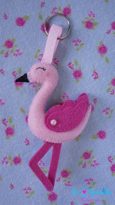 Eu Amo Artesanato: Flamingo com molde