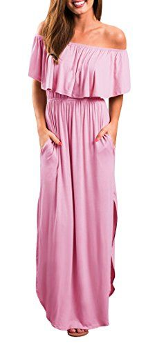 31b2c1cf91872 Yidarton Women Summer Blue and White Porcelain Strapless Boho Maxi Long  Dress (Medium, Pink) in 2019 | Maxi Dresses Spring 2019 | Dresses, ...