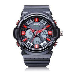 Sale 10% (12.99$) - ALIKE AK14108 Back Light Sport Big Dial Alarm Men Quartz Watch