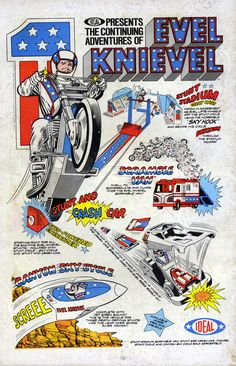 Evel Knievel Toy advert from 1974