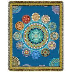 Mandala World Tapestry Throw Blanket  #yoga #blanket #healing #meditation #home #homedecor #decorating #reiki #spa #salon #healing #mandala #world