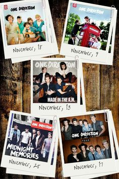 Novembers are the best #OneDirection #UpAllNight #TakeMeHome #MidnightMemories #Four #MadeInTheAM