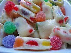Gumdrop Fudge - this reminds me of those Brach's nougat candies that I loved as a kid!