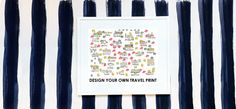 Custom Map Print by EvelynHenson on Etsy, $75.00