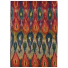 Kaleidoscope Red Rectangular: 7 Ft. 8 In. X 10 Ft. 10 In. Rug Oriental Weavers Area Rugs R