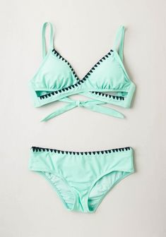 Another Day, Another Wave Swimsuit Top. Take a day off from the beach? #mint #modcloth: