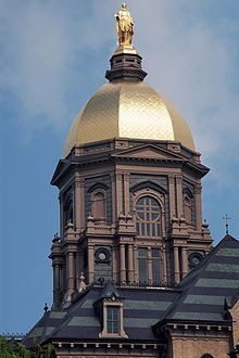 Notre Dame University in South Bend, IN...LOVE THEE NOTRE DAME<3 gold and blue, through and through- cradle to grave