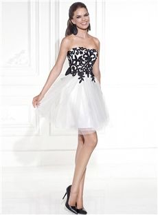 Central Coast Strapless Glorious A-Line Embroidery Short Homecoming Dress