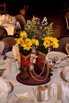 Western Wedding Centerpieces Ideas | Wedding Decorations | Pinterest ...