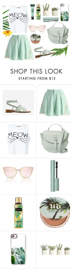 """""""Untitled #47"""" by enamorado-dina ❤ liked on Polyvore featuring CHARLES & KEITH, Chicwish, Miss Selfridge, Meli Melo, Urban Decay, Casetify, Allstate Floral and Victoria's Secret"""