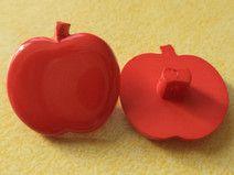 4 Kinderknöpfe rot 17 x 17mm (4592-2)Knöpfe Kinder