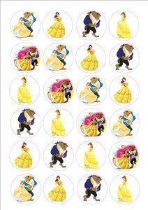 Belle en het beest cake toppers Beauty And The Beast Cupcakes, Beauty And The Beast Diy, Beauty And The Best, Princess Party, Disney Princess, Belle Cake, Bottle Cap Necklace, Bottle Cap Crafts, Bottle Cap Images