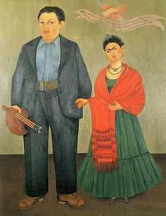 Frieda y Diego Rivera, Frieda Rivera  Two of my favorite artists in one painting.