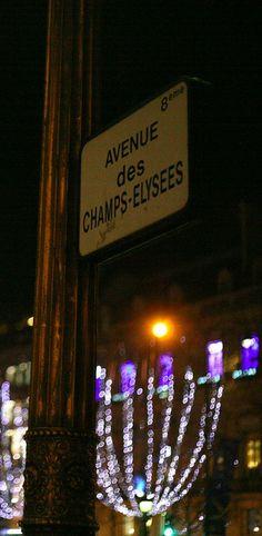 Avenue des Champs-Elysees, Paris, France, during Christmas Season, by Bela Carrari, via Flickr
