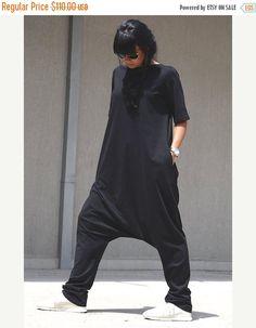 ON SALE Free Shipping Black Jumpsuit / Loose by KOTYTOstyleLAB