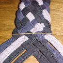 how to: Braiding eight cords into a flat braid