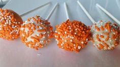 Orange sprinkle pops The Chew, Cake Pops, Sprinkles, Sugar, Orange, Desserts, Food, Cake Pop, Tailgate Desserts