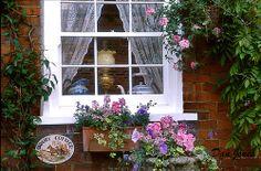 Babury cottage window, England