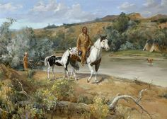 native american paintings images   Woodsong Institute of Art - Horse Painting - The Gift