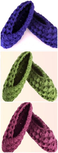 Crochet Slippers With A Square All Free Crochet, Easy Crochet Patterns, Craft Patterns, Diy Crochet, Crochet Stitches, Knitting Patterns, Crochet Slippers, Beautiful Crochet, New People
