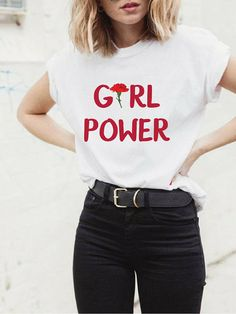 Girl Power Shirt, Girl Power Tshirt, Girl Power Tee, Grl Pwr, Grl Pwr Shirt, Future is Female, Feminism TShirt, Feminism Tee, Feminism Shirt Check out all of our available designs in our Etsy store - https://www.etsy.com/shop/FunkyApparelTees?ref=hdr_shop_menu Fabric: 100% Soft Preshrunk 100% combed ringspun cotton Details: 4.5 oz., Lightweight Fashion T-Shirt, Shoulder-to-shoulder taping, Double-needle stitched sleeves and bottom hem. Label: Anvil