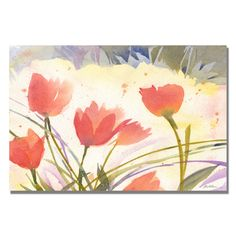 Trademark Fine Art Sheila Golden 'Spring Song' Canvas Art
