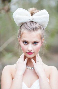 love the bow! Alice In Wonderland wedding ideas big bows, big bow in hair