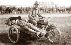 WWI sidecar Ambulance