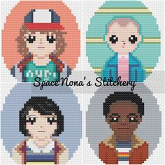 Stranger Things Kids - Cross Stitch Pattern - Downloadable PDF