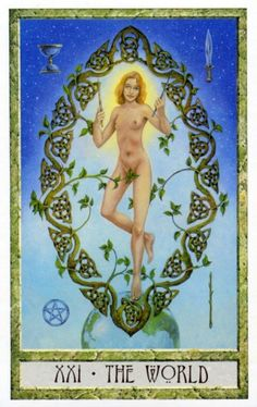 21 - The World ~ Tarot des Druides : Philip & Stephanie Carr-Gomm