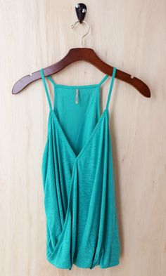 Faux Tuck Camisole, Jade  (Great Investment Piece)