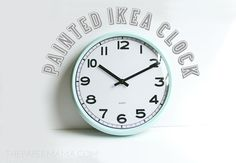 Painted Ikea Clock