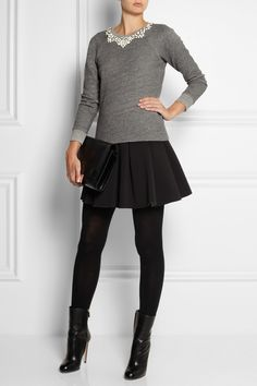 Shown here with: T by Alexander Wang skirt, Falke tights, Gucci boots, Maison Martin Margiela bag.