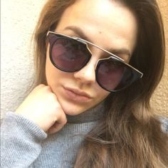 Black & Gold Sunglasses These black and gold sunglasses are everything!!! They look so good in person. They fit very comfortably. Love these! Please don't buy this listing, comment and I will make you a new one. Thanks, loves! Accessories Sunglasses