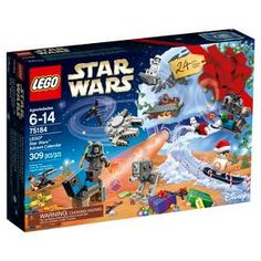Open a door of this super-fun advent calendar each day in December to discover a LEGO® Star Wars themed minifigure, starship, vehicle or other collectible. There's even a foldout playmat featuring images from Jakku, Starkiller Base and deep space for epic Star Wars encounters. This holiday gift is perfect for rebels, Sith Lords, Scavengers and any other life form, and includes 7 minifigures and a BB-8 figure. <br>• Vehicles include The Ghost, The Phantom, Sto...