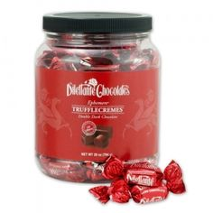 Dark Chocolate Ephemere Truffle Cremes 28 Oz Jar