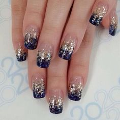 All these nail designs and styles are as easy as they are adorable. If you're always searching for creative ideas and innovative designs, nail art designs are a good way to demonstrate your individuality as well as to be original. Nail Design Glitter, Glitter Nail Art, Nails Design, Glitter Images, Glitter French Nails, Gel Nail Art Designs, French Nail Designs, French Nail Art, Stylish Nails