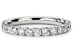 diamond eternity band... Loving the idea of a beautiful and simple eternity band as an engagement ring. Simple eternal love that never ends... Back to the basics.