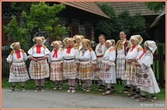 Čičmany, Western Slovakia. Costumes Around The World, Big Country, Vintage Outfits, Vintage Clothing, European Countries, Central Europe, Czech Republic, Folk, Culture
