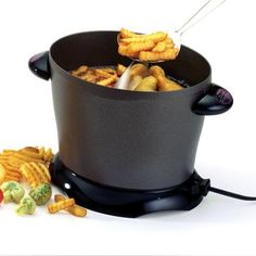 Presto Dualdaddy 8-cup Electric Deep Fryer Crafted From Heavy Cast Aluminum, This Electric Deep Fryer Is Extremely Durable
