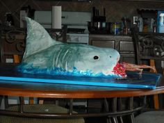 Wow...and gross. Shark cake.
