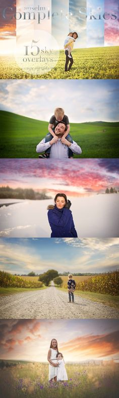 Anselm Complete Sky Overlays. Photoshop Layer Styles. $20.00
